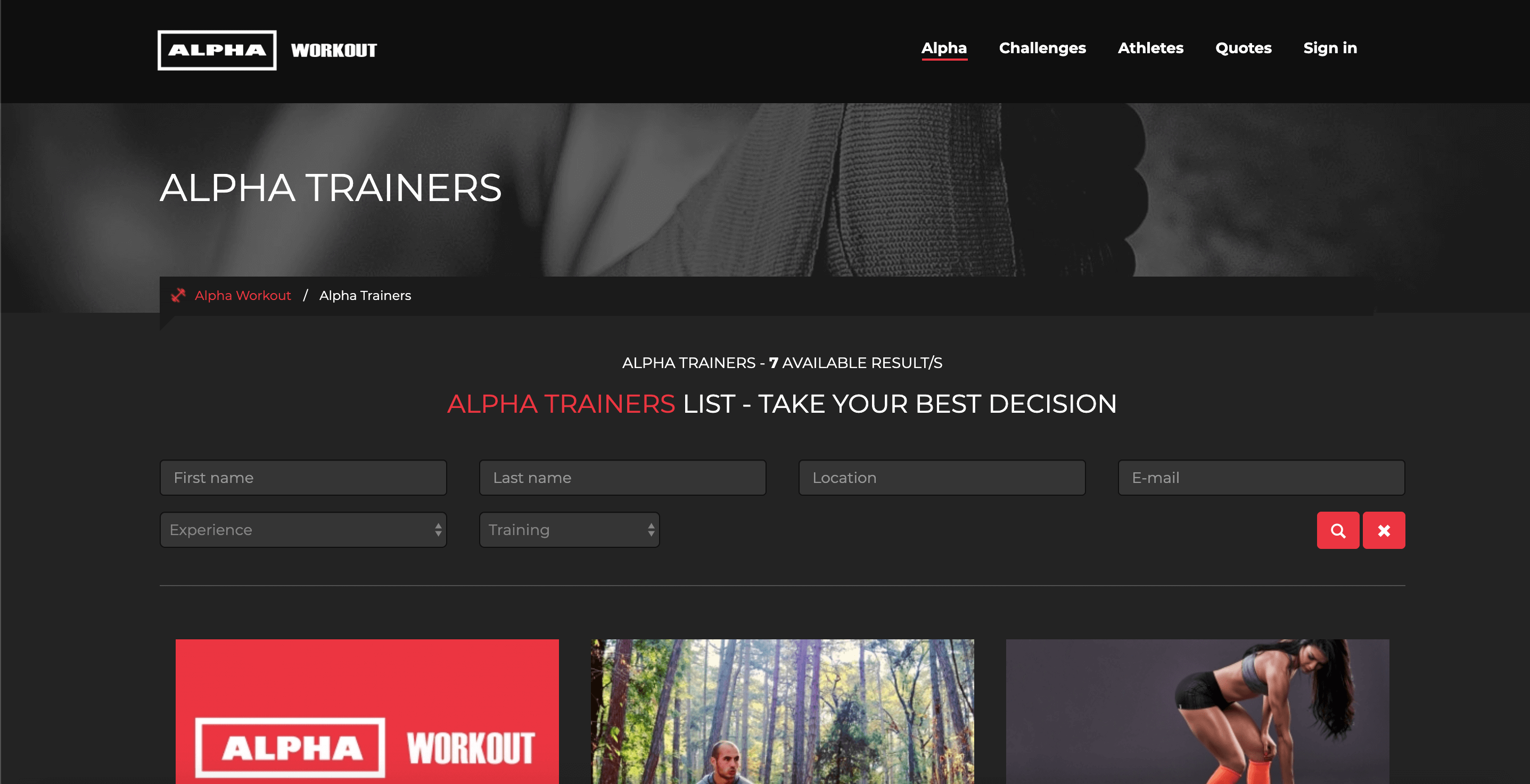 Alpha Workout